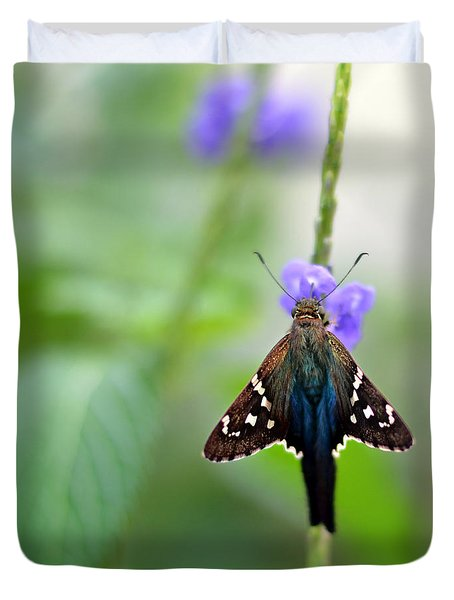 Long Tailed Skipper Duvet Cover by Laura Fasulo