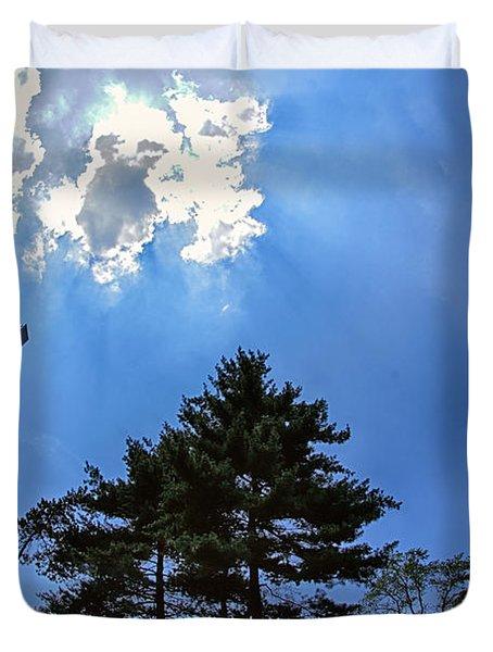 Long Way Up Duvet Cover