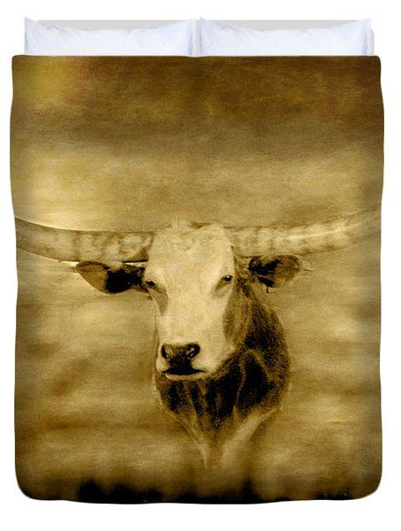 Longhorn Bull Duvet Cover