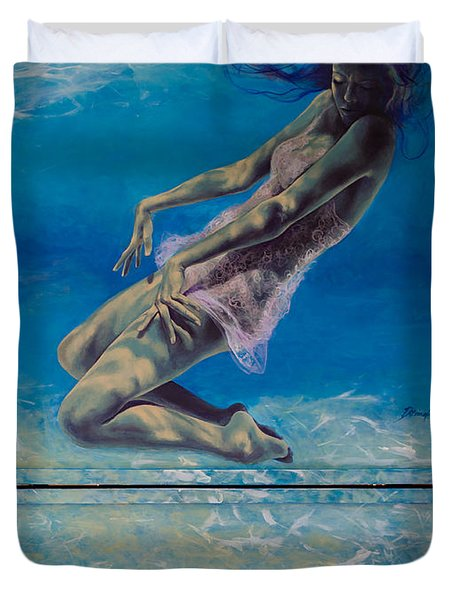 Longing From The Depths Duvet Cover by Dorina  Costras