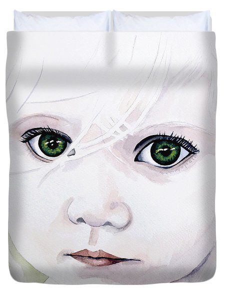 Longing Eyes Duvet Cover