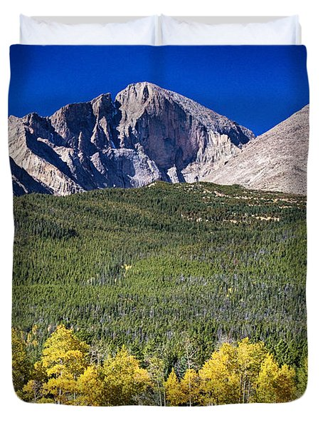 Longs Peak A Colorado Playground Duvet Cover