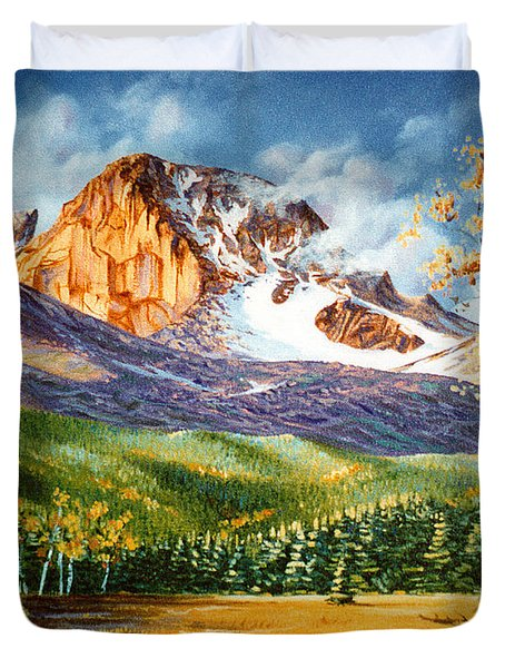 Duvet Cover featuring the painting Longs Shadows by Craig T Burgwardt