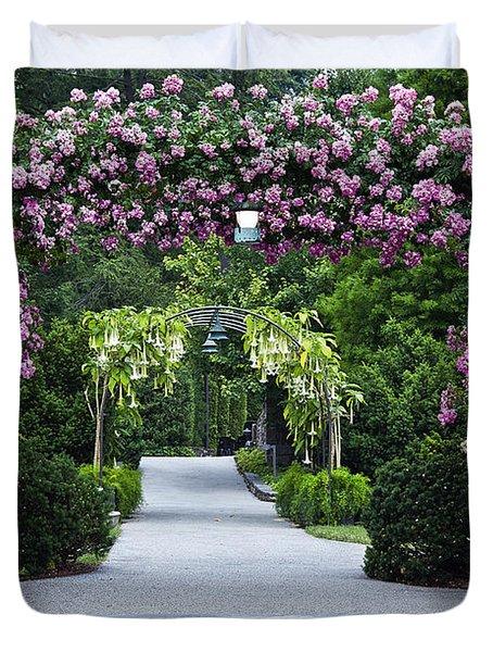 Longwood Rose Arbor Duvet Cover