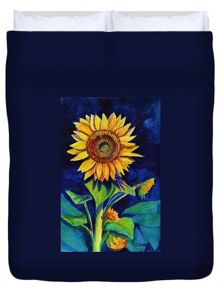 Midnight Sunflower Duvet Cover