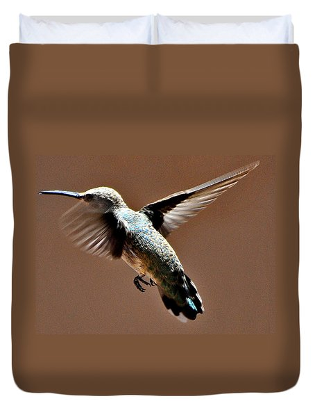 Duvet Cover featuring the photograph Look At My Crazy Crows Feet by Jay Milo