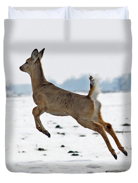 Look I Am Flying Duvet Cover by Lori Tordsen