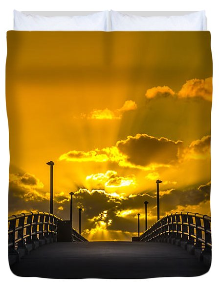 Look Into The Rays Duvet Cover
