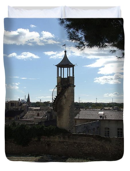 Look Out Tower On The Approach To Beaucaire Castle Duvet Cover
