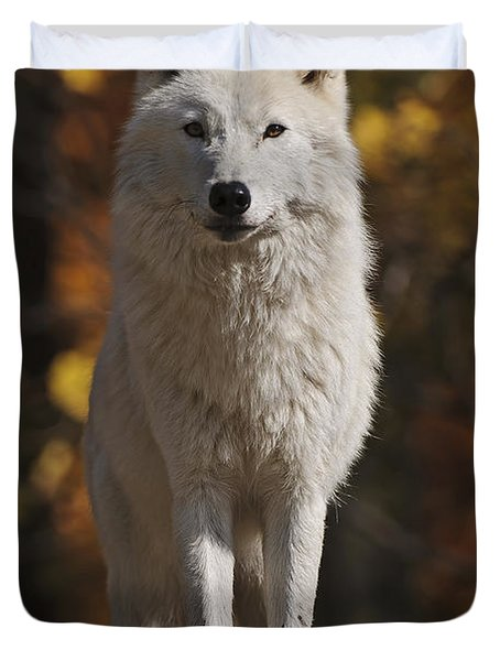 Duvet Cover featuring the photograph Look Out by Wolves Only