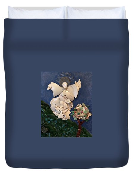 Look Unto The Hills Duvet Cover