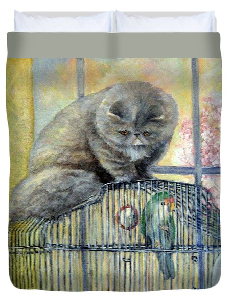 Lookin For Grub In All The Wrong Places Duvet Cover