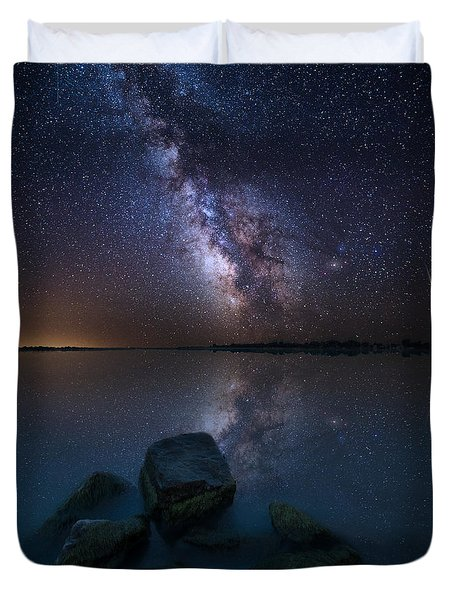 Looking At The Stars Duvet Cover