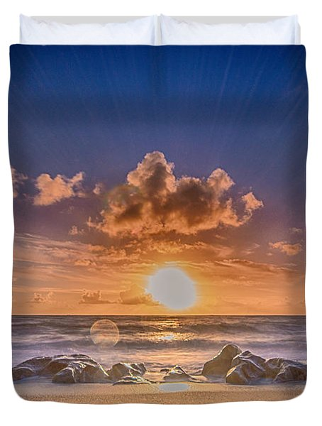 Looking At The Sun Duvet Cover