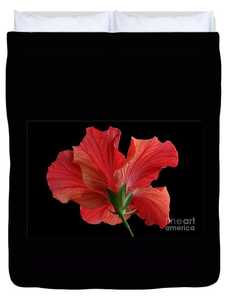 Duvet Cover featuring the photograph Looking Back by Judy Whitton