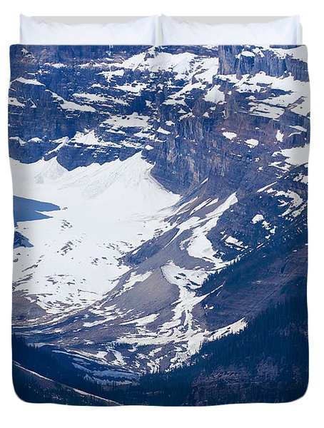 Looking Down At Lake Louise #2 Duvet Cover