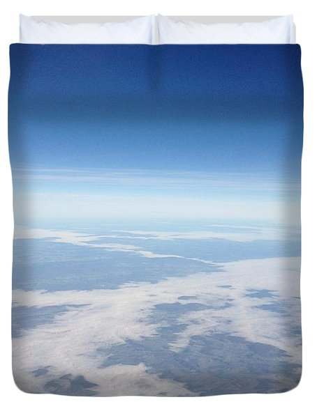Looking Down On The Earth Duvet Cover by Daniel Precht