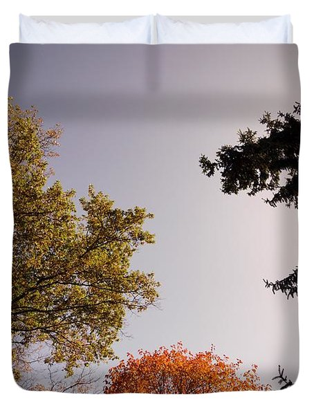 Duvet Cover featuring the photograph Looking Down On Us by Photographic Arts And Design Studio