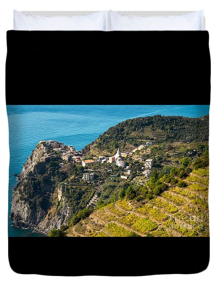 Looking Down Onto Corniglia Duvet Cover