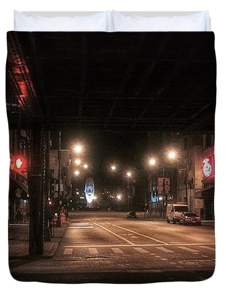 Looking East From Wabash Duvet Cover