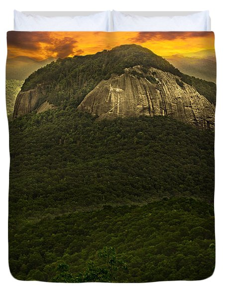 Looking Glass Rock North Carolina  Duvet Cover by Gray  Artus