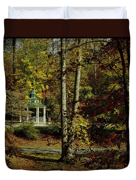 Duvet Cover featuring the photograph Looking Into Fall by James C Thomas