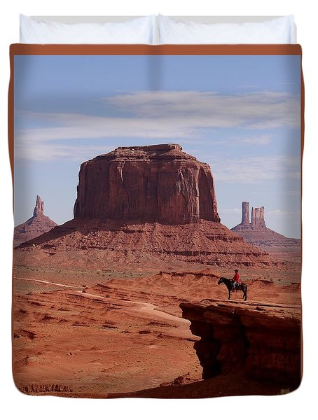 Looking Out At John Ford Point Duvet Cover