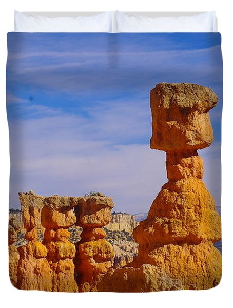 Looking Over Sunset Point  Duvet Cover by Jeff Swan