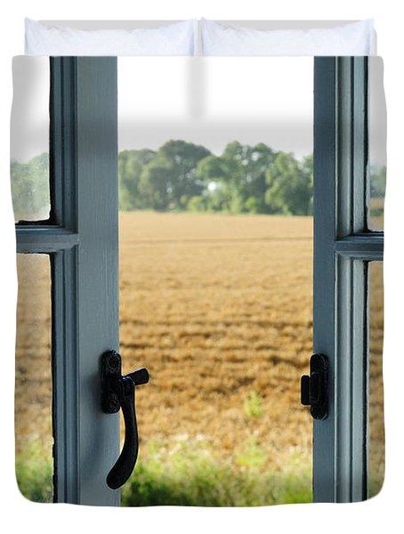 Looking Through A Window Duvet Cover