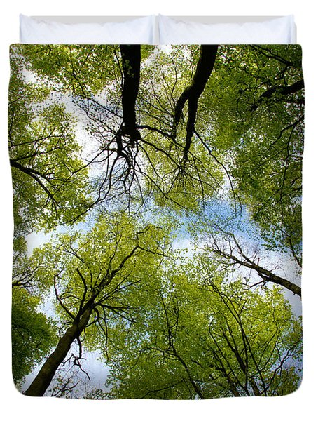 Looking Up Duvet Cover by Ron Harpham