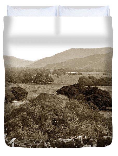 Looking Up The Carmel Valley California Circa 1880 Duvet Cover