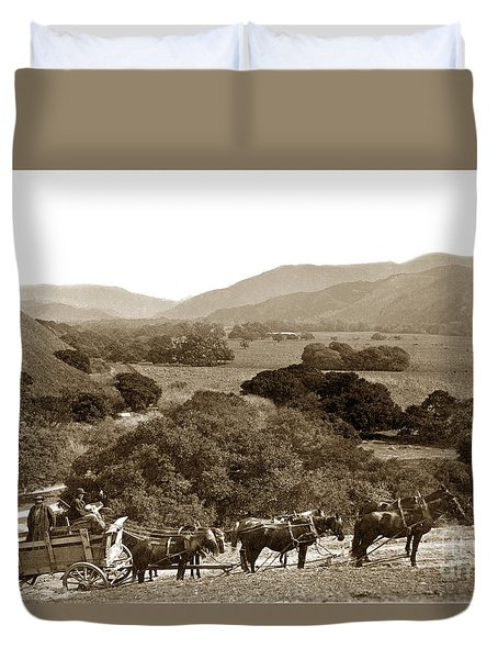 Looking Up The Carmel Valley California Circa 1880 Duvet Cover
