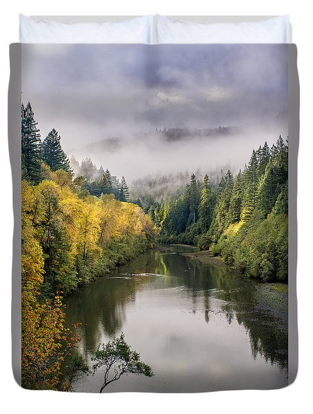 Looking Up The Eel River Duvet Cover