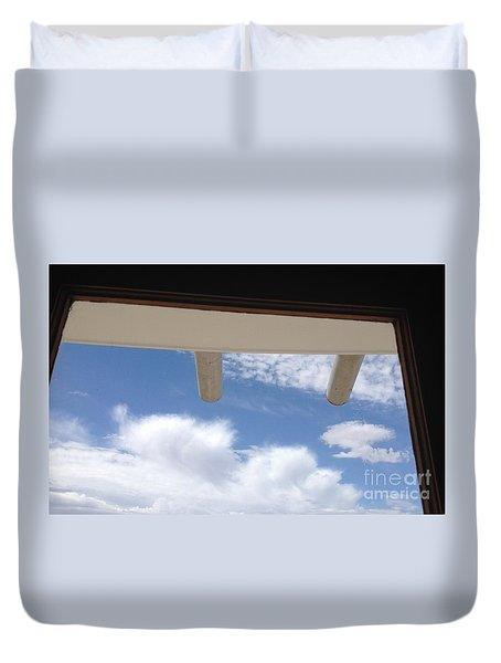 Duvet Cover featuring the photograph Lookout by Nora Boghossian