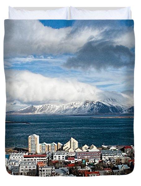 Lookout Over Reykjavik Duvet Cover