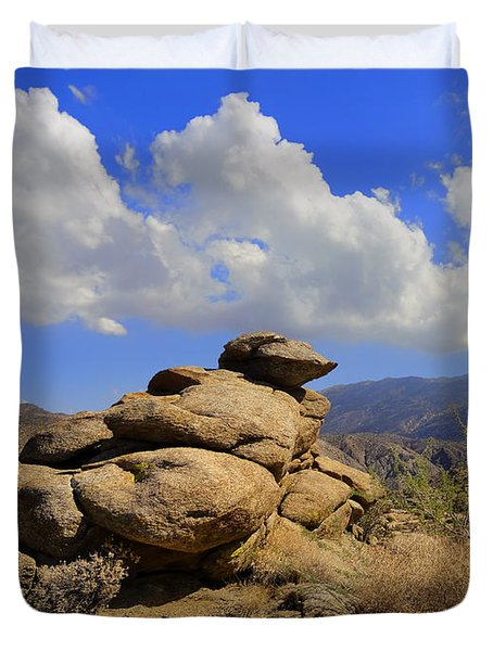 Lookout Rock Duvet Cover by Michael Pickett