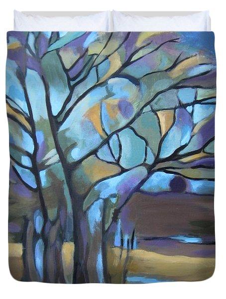 Looks Like Mondrian's Tree Duvet Cover