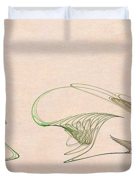 Loops Duvet Cover by David Ridley