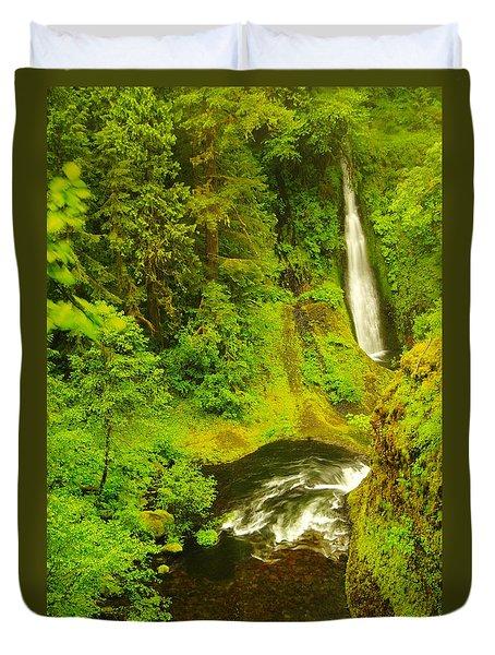 Loowit Falls Duvet Cover by Jeff Swan