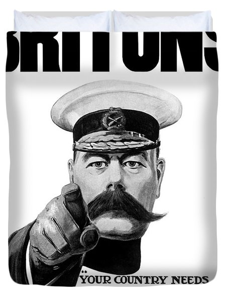 Lord Kitchener - Britons Your Country Needs You Duvet Cover
