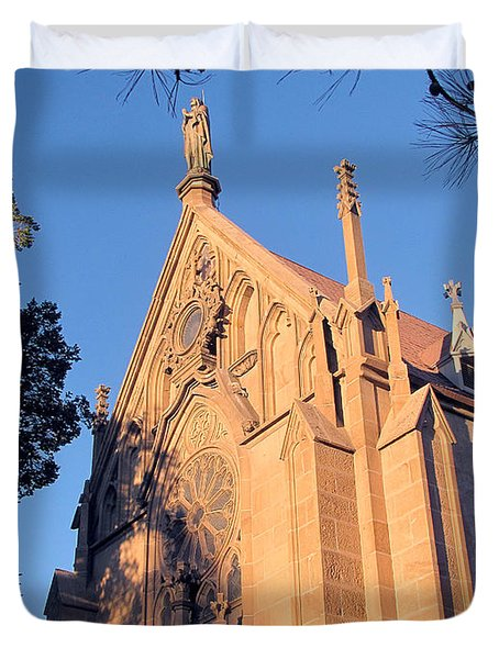 Loretto Chapel Circa 1878 Duvet Cover