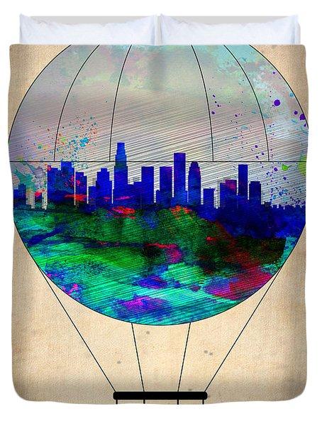 Los Angeles Air Balloon Duvet Cover