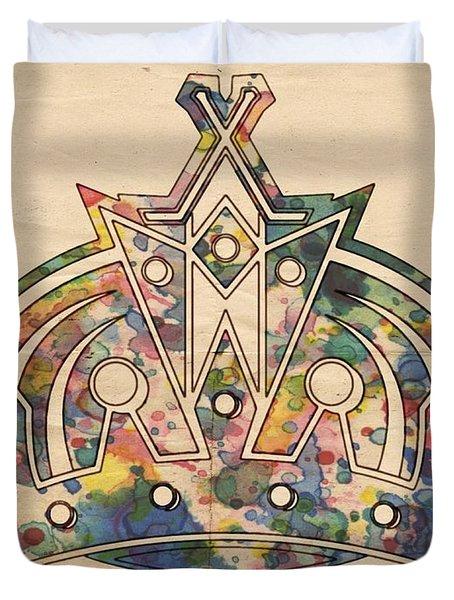 Los Angeles Kings Logo Poster Duvet Cover
