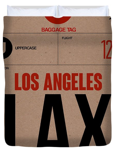 Los Angeles Luggage Poster 1 Duvet Cover