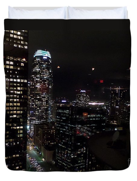 Los Angeles Nightscape Duvet Cover