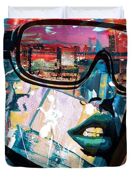 Los Angeles Skyline Duvet Cover