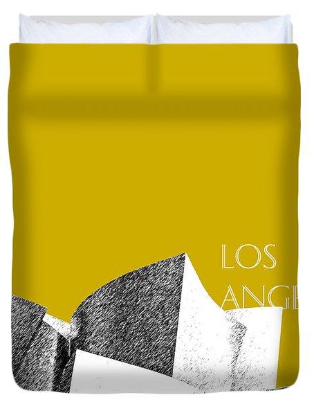 Los Angeles Skyline Disney Theater - Gold Duvet Cover
