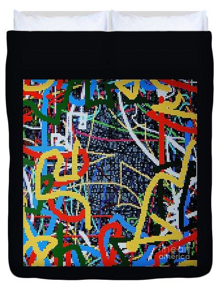 Los Angeles Duvet Cover by Taikan Nishimoto