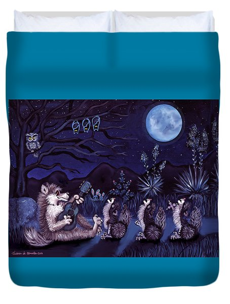 Los Cantantes Or The Singers Duvet Cover