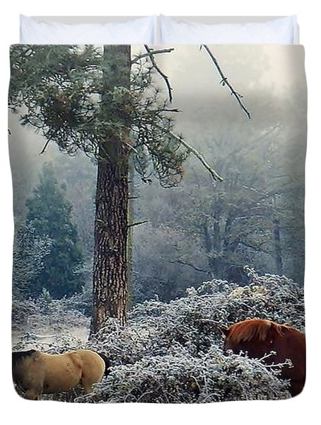 Duvet Cover featuring the photograph Los Tres Amigos by Julia Hassett